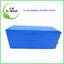 POEAE 18650 battery 19.8Ah 14.8v li ion battery pack lifepo4 rechargeable battery for e-bike