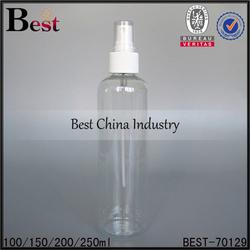 all size cheap empty plastic spray bottle with plastic sprayer