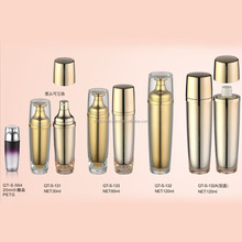 High Quality Plastic Cosmetic Container Acrylic Cosmetic Spray Bottle Cosmetic Round Acryl