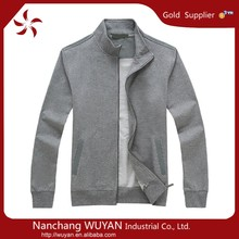 Mens 100%cotton terry zipped hoodie custom zip doodie for men mens wholesale high quality plain hoodie