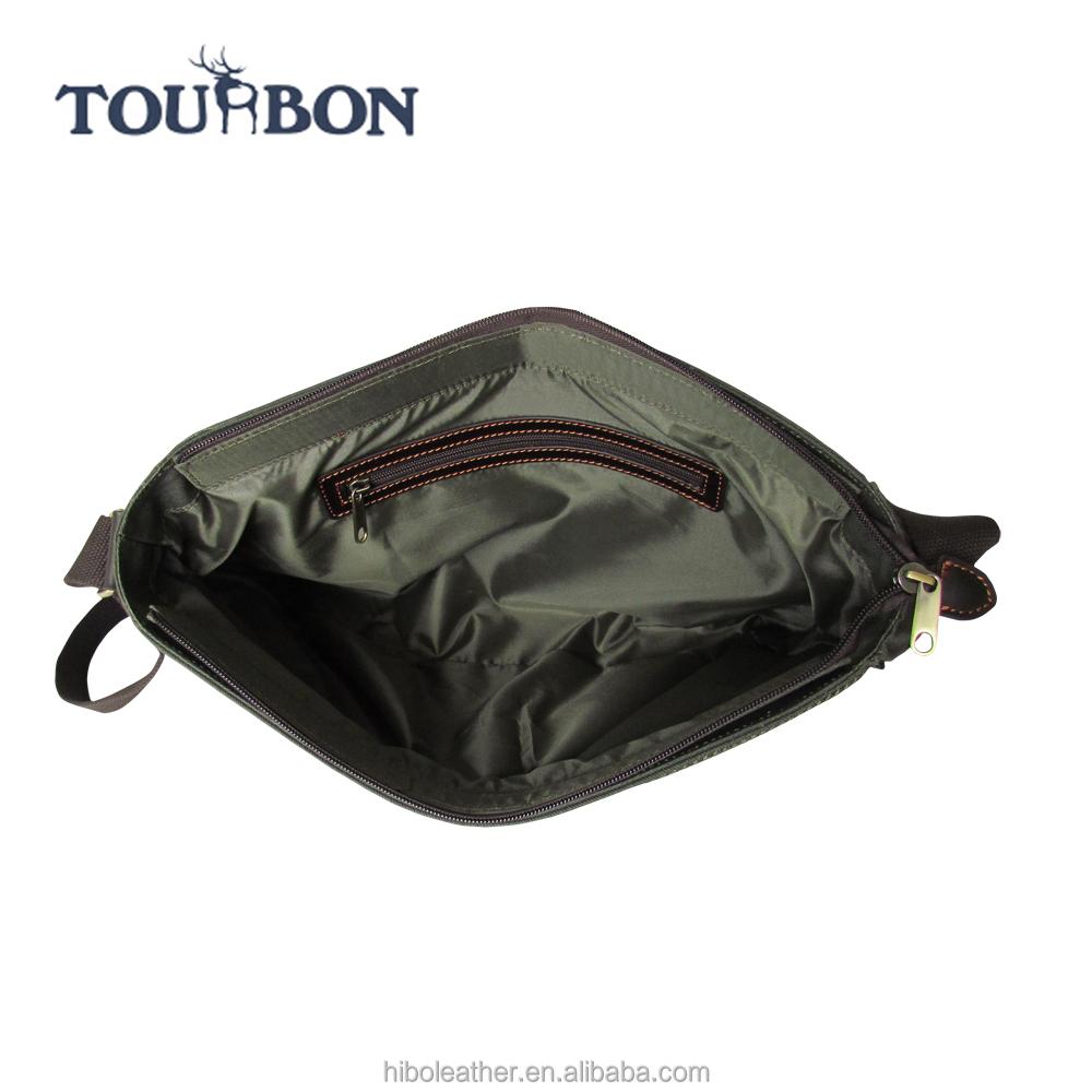 Оптовая продажа холст и кожаной отделкой сумка охотника