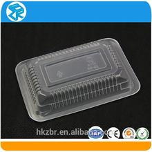 promotion item organic disposable plastic serving tray with cover for vegetable