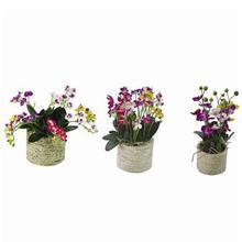 nova chegada de fita artificial de arranjos de flores em vaso
