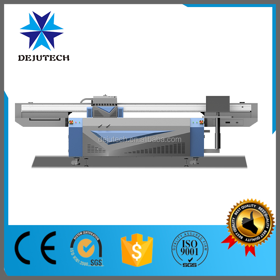 2.68*1.22 m uv imprimante, Uv led à plat imprimante pour céramique, Verre, Bois, Métal wiht 3D effet