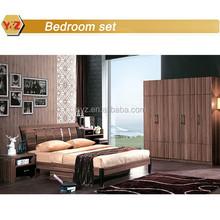 Walnut melamine mdf modern bedroom furniture design wholesale