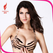 2015 popular fashion leopard women wear bra sexy female image, girls bra