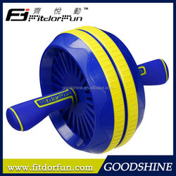 2015 New Fashion Style Fitness Equipment Patented Designed Interchangeable Double Ab Exercise Roller Wheels
