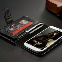 Hot item in western area cheap price with super wallet function cell phone case for Samsung Galaxy 4 SIV I9500