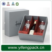 Factory Cheap Single Clear Wine Glass Gift Box Wholesale