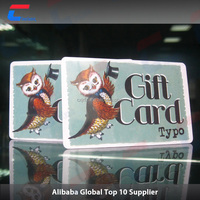 Economic best sell pvc gift card for christmas card