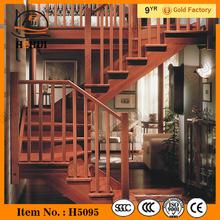 MT-TM322 Carved Wood Staircase,modern wood stairway,timber wood staircase