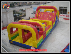 Giant boot camp inflatable obstacle course for sale
