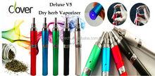 2014 wholesale Deluxe V5 dry herb vaporizer pen 510 dry herb vaporizer in alibaba