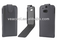 Black Flip PU Leather Case Cover for HTC One 2 M8 Case