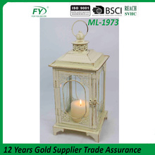 Cream with golden brushed excellent quality antique lantern ML-1973