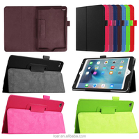 Lichee Pu Leather Folio Stand Smart Case For Ipad Mini 4 Tablet Cover