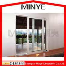 multi-lock aluminum exterior storm resistant glass sliding door