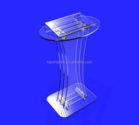 Clearn Acrylic Podium Lectern Pulpit Plexiglass Lucite
