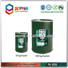 Single component water-proof polyurethane filling adhesive for expansion joints PU820