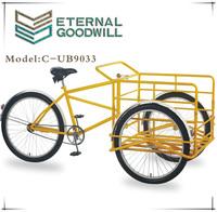 """Hot sale single speed 26""""cargo bike/three wheel bike/tricycle/cargobike for customers"""