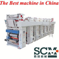 6 colors Normal Speed plastic film rolls Gravure Printing Machine