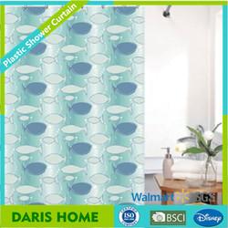 Plastic shower curtain with fish design, fish design shower curtains, new fish design shower curtains,