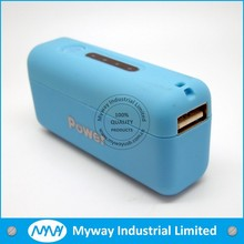 2014 new design rubber finished portable mobile power charger / mobile phone power bank 3000MAH with LED