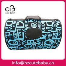 letters pattern plastic dog carrier