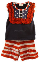 Cute 4th of July Outfit Persnickety Summer Celebrastion Lou Lou Lou Top &Stripe Shorts Cotton Outfits For Baby Girls