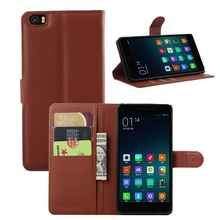 Hot selling leather case for Xiaomi Mi Note Leather Mobile phone flip cover case for Xiaomi Mi Note