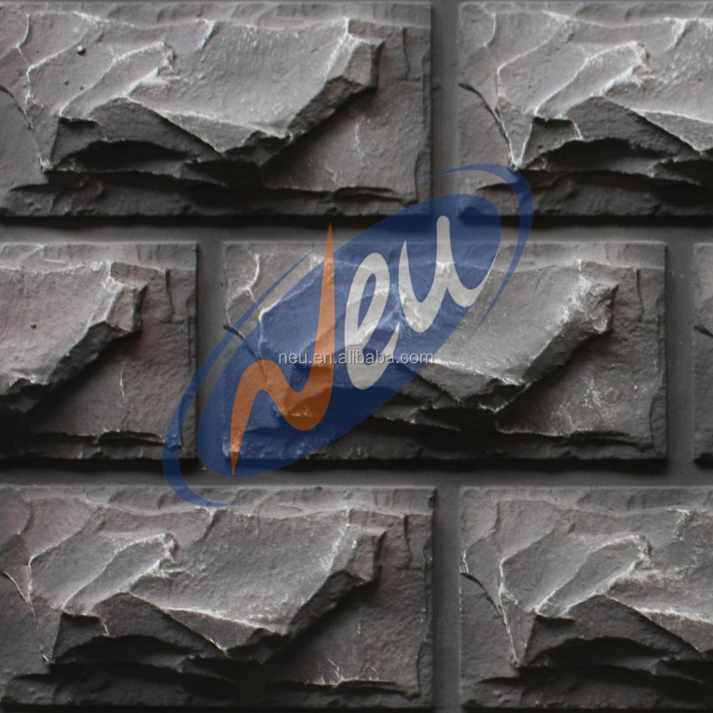 Pu culture stone panel artificial sticker faux stone for Rock wall insulation