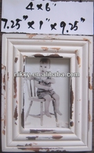 SMALL WHITE PICTURE FRAME HAND PAINTED PHOTO FRAMES FOR HOME DECORATION