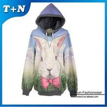 top quality custom sublimation print women's hoody