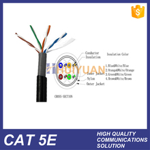 HUIYUAN Waterproof Black UTP cat5e outdoor 155Mbps ISDN and ATM Network Cable