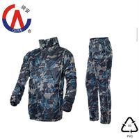 Camouflage military breathable rainsuit,army rain coat pants