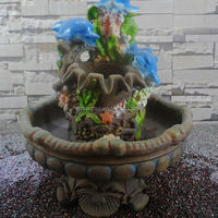 Colorful Dolphins Pond Fountains Backyard Garden Design