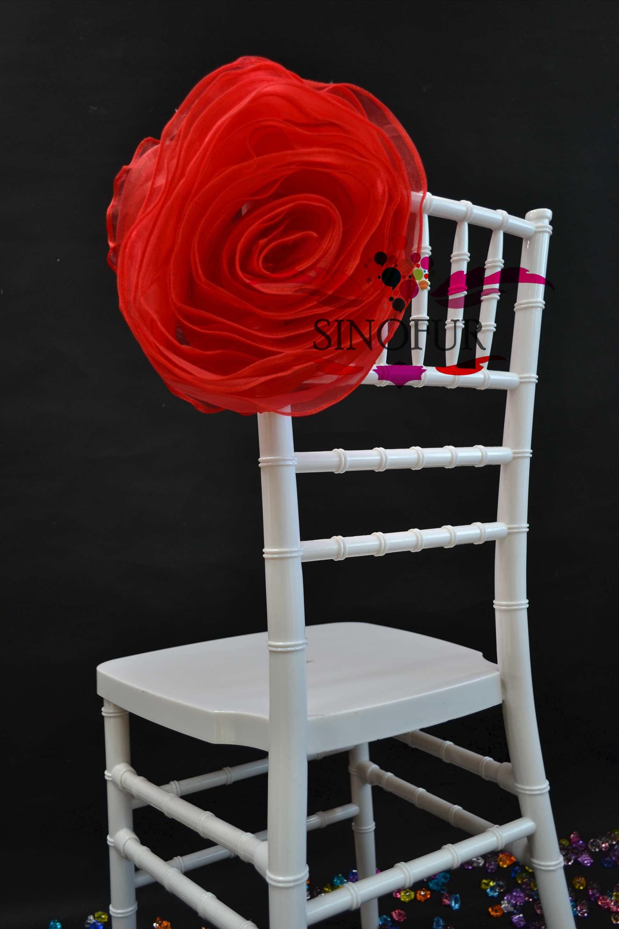 chaise couverture de chaise de mariage en organza fleur housse chaise id du produit 500002242002. Black Bedroom Furniture Sets. Home Design Ideas