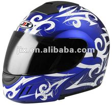 motorcycle helmets in china flip up JX-A111-1 with double visor