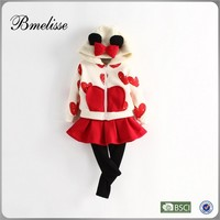 2014-2015 wholesale fashion colorful kids dress set Children's Set with red heart skirt set for 1-4 years old Stock