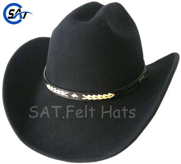 Lana unisex 100% fieltro sombrero de vaquero clásico