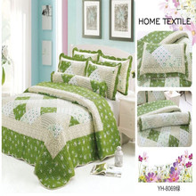 Hot sale flower design bedspreads and matching curtains