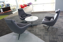 China manufacturer modern office furniture lounge area chair with table