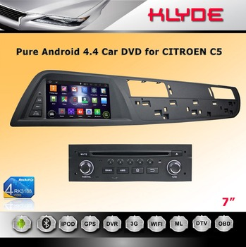 double din car dvd player for citroen c5 android 4 4 4 cpu 1 6ghz 4 core 3g wifi. Black Bedroom Furniture Sets. Home Design Ideas