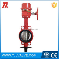 wafer type di/wcb/ss fire protection butterfly valve fire fm/ul cert ansi/din/jis