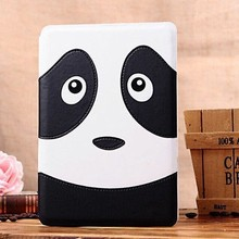 Cartoon Panda PU Leather Smart Cover Case for Apple iPad Mini with Sleep Wake