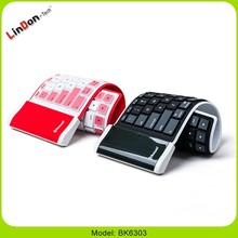 Flexible Wireless Bluetooth Mini Keyboard for cell phone