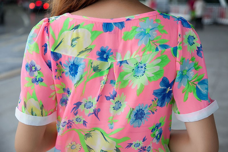 Блузки Цветочный Принт Доставка
