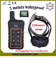 Long Range water-proof 1200Meter Remote Dog Training Collar, Up to 3 Dogs