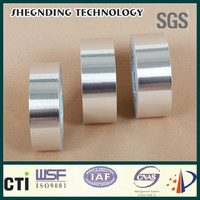 Strong adhesive! High adhesive strength White coated release paper 16um Synthetic Rubber Aluminum Foil Tape