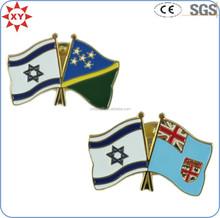 Custom made promotion printing national flag pin badge